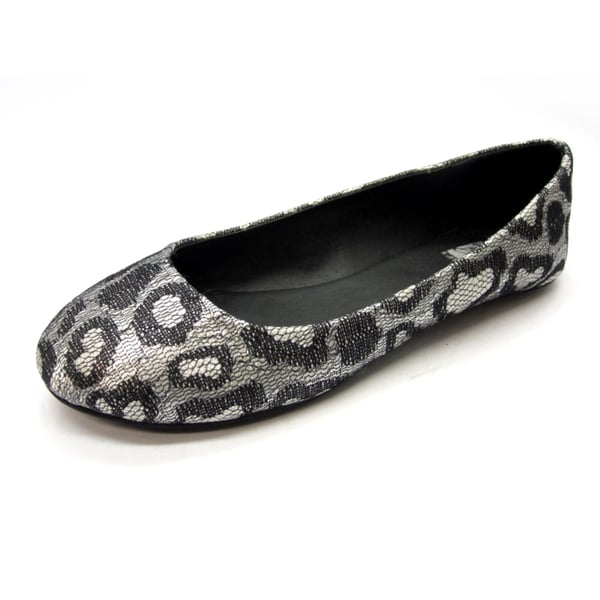 Blue Womens 'Gomez' Black Leopard Print Flats