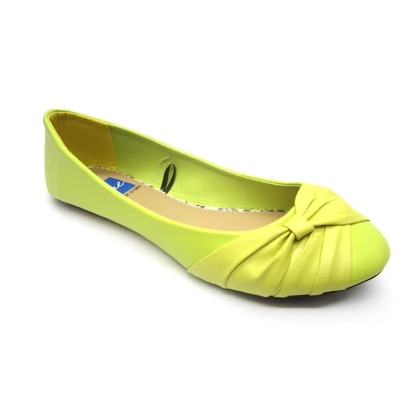 Blue Women's 'Dope' Banana Wrapped Flats