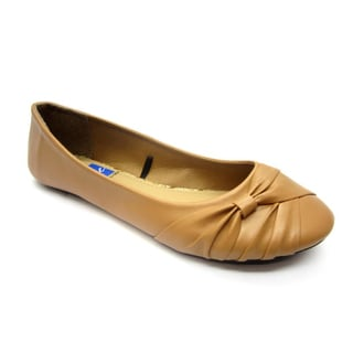 Blue Women's 'Dope' Tan Wrapped Flats