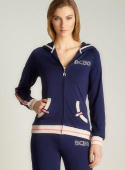 BCBG Rivet Pouch Logo Hoodie