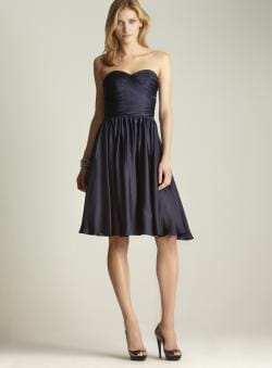 Monique Lhuillier Ruched Sweetheart Bodice Dress