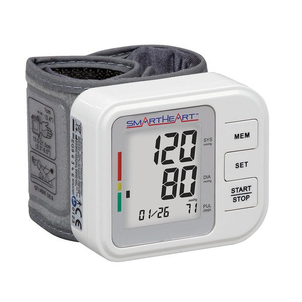 SmartHeart Automatic Digital Wrist Blood Pressure Monitor