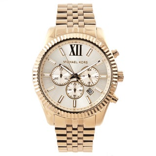 Michael Kors Men's MK8281 Gold-Tone Fluted Bezel Chronograph Watch