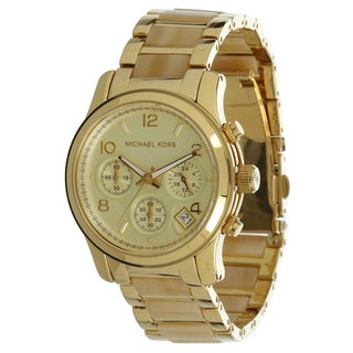 Michael Kors Women's MK5660 Horn Acetate Gold-Tone Stainless Steel Watch