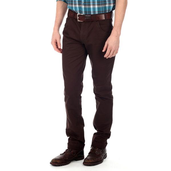 191 Unlimited Men's Dark Brown Straight Leg Pants