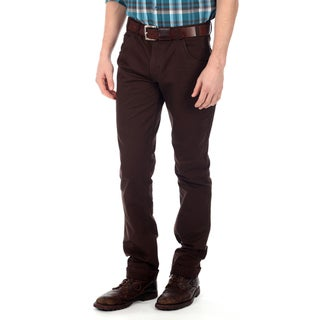 191 Unlimited Men's Dark Brown Straight Leg Pants