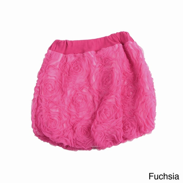 Paulinie Collection Girls' Embellished Mesh Bubble Skirt