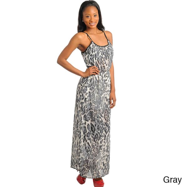 Stanzino Women's Animal Print Maxi Dress