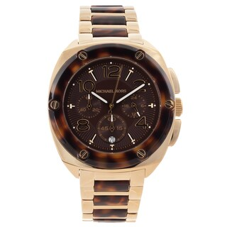 Michael Kors Women's MK5593 'Tribeca' Tortoise Chronograph Watch