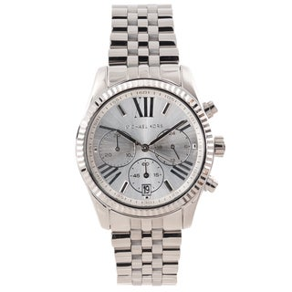 Michael Kors Women's 'Lexington' Silver Dial Chronograph Watch