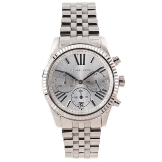 Michael Kors Women's MK5555 'Lexington' Silver Dial Chronograph Watch