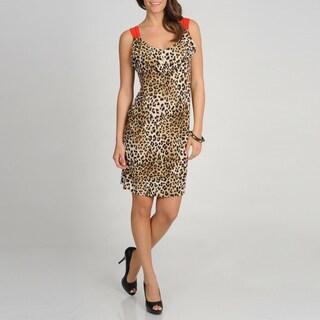 Tiana B. Women's Leopard Print Sleeveless Dress
