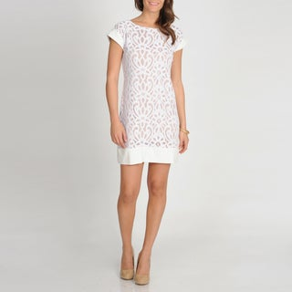 Tiana B. Women's Ivory Embroidered Lace Dress