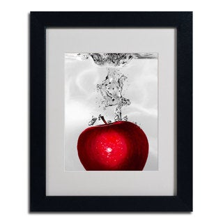 Roderick Stevens 'Red Apple Splash' Framed Matted Giclee Art