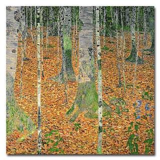 Gustav Klimt 'The Birch Wood' Canvas Art