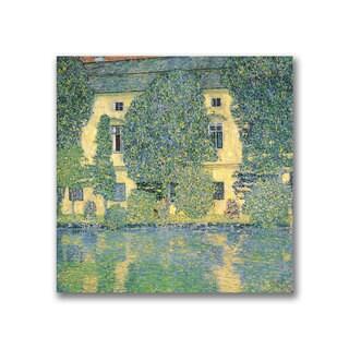 Gustav Klimt 'The Schloss Kammer on the Atterse' Canvas Art