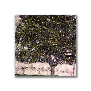 Gustav Klimt 'The Apple Tree' Canvas Art