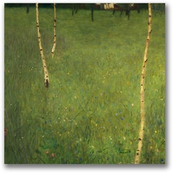 Gustav Klimt 'Farmhouse with Birch Trees' Canvas Art
