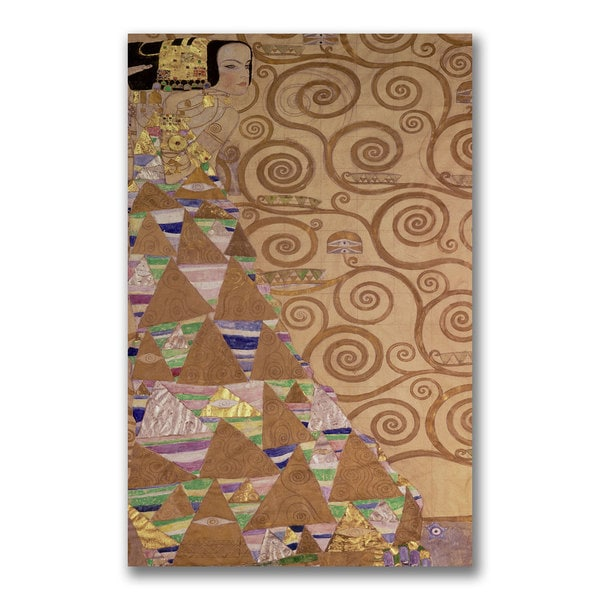 Gustav Klimt 'Expectations' Canvas Art