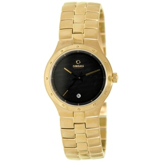 Obaku Women's Goldtone/ Black Watch