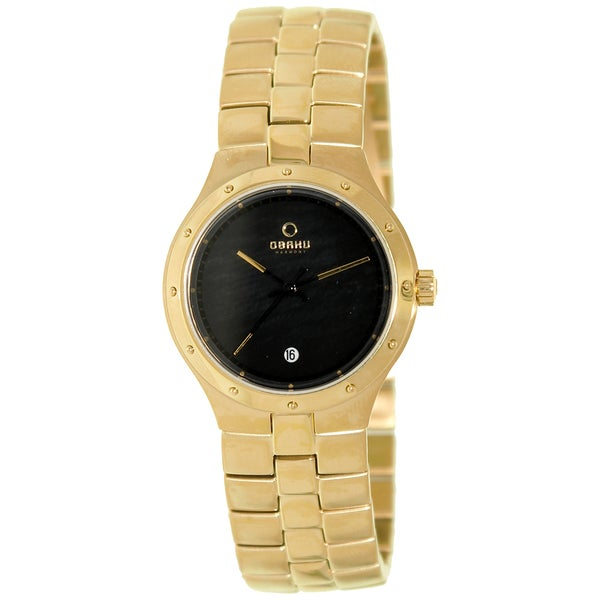 Obaku Women's V111LGBSG 'Harmony' Gold Tone Stainless Steel Watch