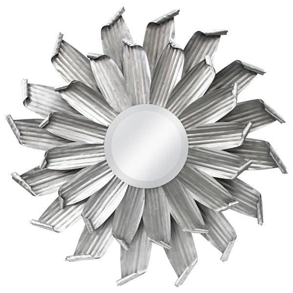 Industrial Daisy Round Mirror