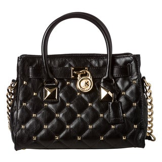 MICHAEL Michael Kors Small 'Hamilton' Black Quilted Leather Studded Tote