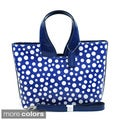 Dasein Glossy Polka Dot Satchel Bag