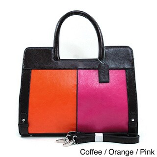 Dasein Retro Colorblock Tote Bag