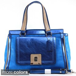 Dasein Two-tone Metallic Contrast Satchel