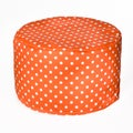 Hip-O Modern Living Orange and White Spots Beanbag Ottoman