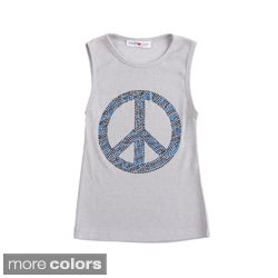 Sweetheart Jane Peace Sign Tank Top