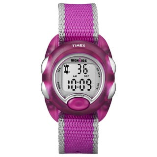 Timex Kids' 'IronKids' Translucent Pink Resin Strap Watch