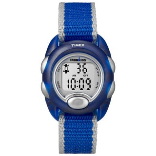Timex Kids T7B982 IronKids Translucent Blue Resin Strap Watch