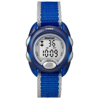 Timex Kids' T7B982 IronKids Translucent Blue Resin Strap Watch
