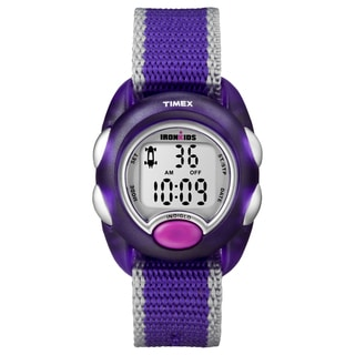 Timex Kid's T7B983 IronKids Translucent Purple Resin Strap Watch