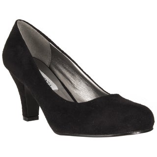 Riverberry Women's Black Mid-heel Pumps