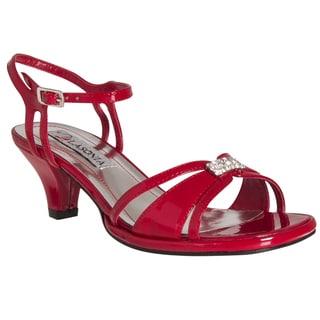 Riverberry Women's Rhinestone-detail Kitten Heel Sandals