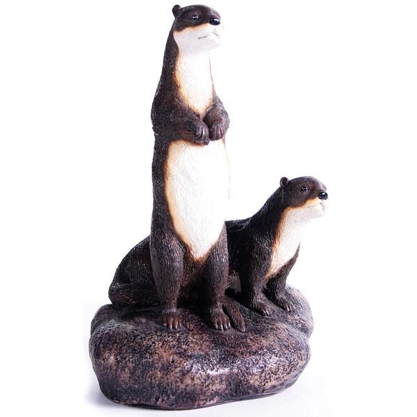 Kelkay Otters on the Rock Decoratiive Accent