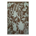 Thai Indoor/ Outdoor Wildflowers Floor Mat (4 x 6)