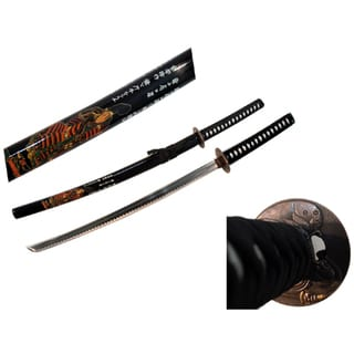Collectible 40.5-Inch Japanese Katana Samurai Sword With Stand