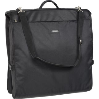 Wally Bags 45-Inch Framed Black Shoulder Strap Garment Bag