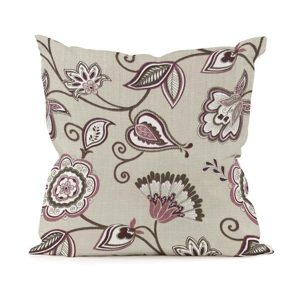 Avignon Eggplant 16-inch Square Pillow