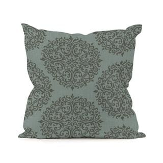 Medallion Teal 16-inch Square Pillow