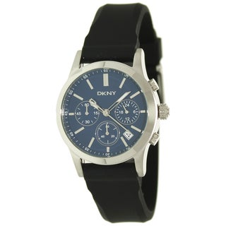 DKNY Women's Blue Dial Silicone Strap Watch