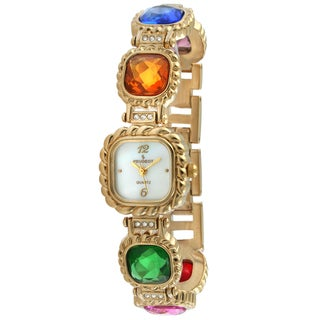 Peugeot Women's Goldtone Multi-colored Jewel Watch