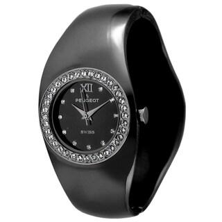 Peugeot Women's Swiss Quartz Black Bangle Watch
