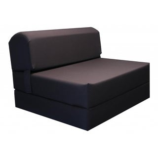 Brown 70-inch Tri-fold Foam Chair Bed