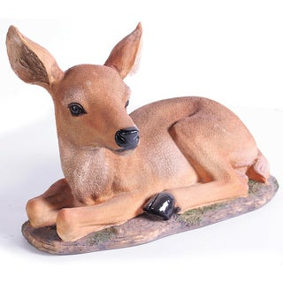 Kelkay Laying Fawn Decorative Accent