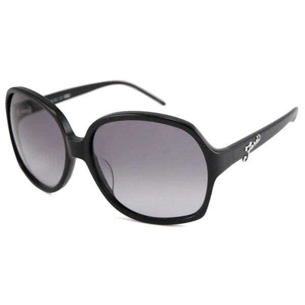 Fendi Women's FS5203 Rectangular Black Sunglasses
